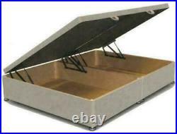 Modern Plush Soft Velvet Ottoman Gas Lift Divan Drawers Storage Bed Base Only