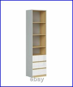 Modern Chest Drawers Cabinet Storage Kids Bedroom White Gloss Comic Emoji Nandu