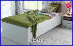 Modern White Matt Effect 4 Piece Children's Bedroom Set Storage & Bed Frame Nepo