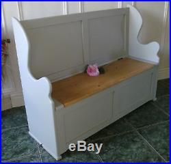 Monks bench childrens seat toy box storage shabby chic100cm long