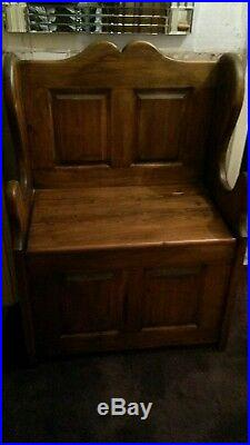 Monks bench, church pew, settle, storage seat, shoe storage, bench