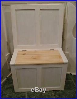 Monks bench seat box storage pew settle shabby chic