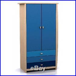 Multi-Coloured Children's Bedroom Door Wardrobe Drawer Clothes Storage Furniture