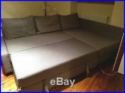 NEARLY NEWIkea Friheten corner double sofa bed with storage in grey fabric