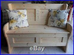 NEW DESIGN, Hallway Seat, Storage Bench, Monks Bench, Settle, Pine Furniture