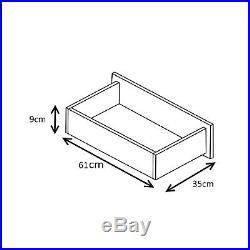 NEW High Gloss 3 Piece Bedroom Furniture Set Wardrobe Chest Bedside Black