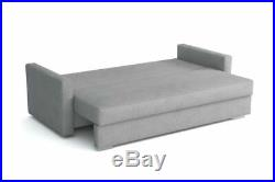NEW LARGE MODERN SOFA BED Stella STORAGE 3 SEATER DOUBLE BED KIDS ADULTS