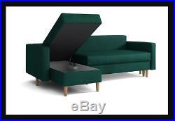 NEW UNIVERSAL CORNER SOFA BED ANA STORAGE GREY DARK GREY FABRIC RIGHT or LEFT