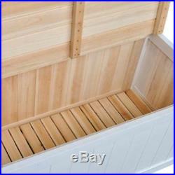 NEW White Storage Bench Seat Armrest Children Chest Toys Indoor Hallway Country