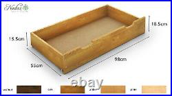 NODAX Solid Wooden Pine Double Bed F1 4ft6in frame&slats Various Colours