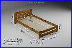 NODAX Wooden Furniture Solid Pine Single 3ft Bedframe/Underbed Storage ONE