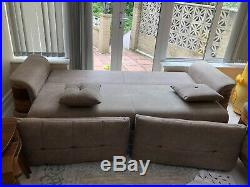 Nearly New LOVELY Luxury Turkish SOFA BED Set With Storage 3 Seater Fabric