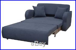 New 2 Seater Sofa Bed with Storage Grey Fabric