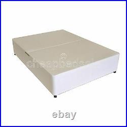 New 4ft 6 Double White Divan Base Storage Drawers