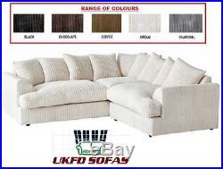 New Jamba Ferguson Jasper Jumbo Cord Corner Sofa Suite + Storage Footstool