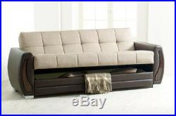 New LOVELY Luxury Turkish SOFA BED Set With Storage 3 Seater Fabric