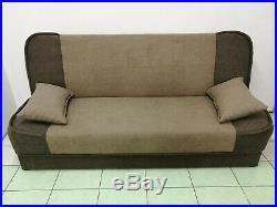 New Large Sofa Bed Fabric With Storage 3 Seater Double Bed Wersalka Free Deliver