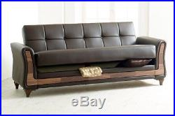 New Luxury air LEATHER Turkish SOFA BED Set With Storage 3 Seater furniture Best