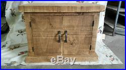New Solid Wood Rustic Chunky Plank Tv Unit Wooden Storage Cupboard Made To Order