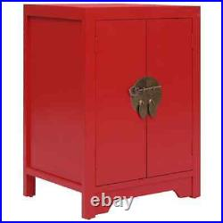 Nightstand Bedside Table Storage Cabinet Bedroom Stand 2 Doors Chinese Style NEW