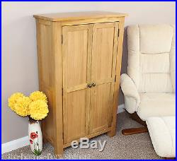 Oak Cupboard Filing Storage Cabinet Tall Buffet DVD'S Books Adjustable Shelves