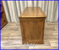 Oak Furniture Land Solid Oak Office Desk Table Pedestal Storage French Farmhouse