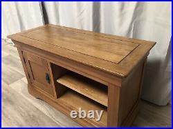 Oak Furniture Land Solid Oak TV Unit Cabinet Sideboard Storage French Farmhouse