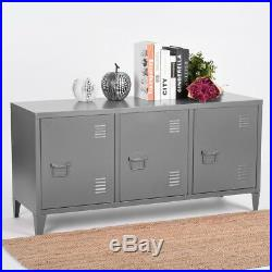 Office File Storage Metal Cabinet 3 Door Cupboard Locker Organizer Console Stand
