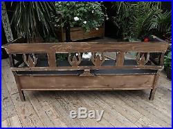 Old Antique Style Pine/ Painted Black Storage Box Bench/settle. We Deliver
