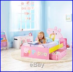 Peppa Pig Toddler Bed + Mattress Girl Children Kids Bedroom Underbed Storage NEW
