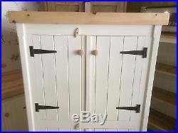 Pine Kitchen Traditional Cupboard Unit Pantry Linen Larder Storage Shabby Chic