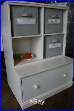Pottery Barn Cameron children's storage unit bookcase cabinets 74w x 53d x 102h