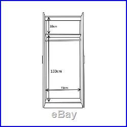 REFLECT 2 Door Corner + 2 Door Wardrobe in White Gloss & Matt White 4 Door Set
