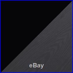 REFLECT High Gloss Black / Black Oak 4 Piece Bedroom Furniture Plain Set