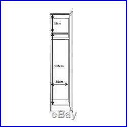 REFLECT High Gloss White / White 3 Piece Bedroom Furniture Plain Set 1 Door