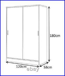 REFLECT High Gloss White+White Sliding 4 Piece Bedroom Furniture Set Soft Close