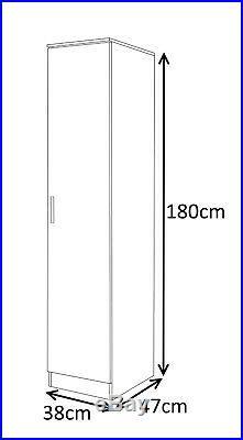 Reflect Bedroom Wardobe 1 2 3 4 5 6 7 8 or 9 Door Grey White Black Walnut