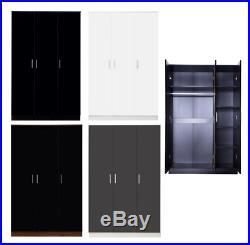 Reflect Wardobe Small Large Bedroom Storage 1 to 9 Doors Black Grey Walnut White