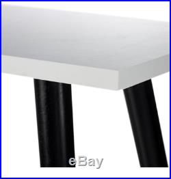 Retro Scandinavian White Black Storage Desk With 2 Drawers Easy Assemble £299