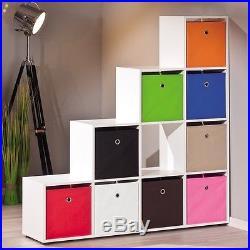 Room Divider Shelves White Book Case Shelf Lounge Bedroom Storage Display Unit