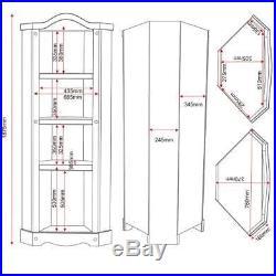 Rustic Seconique Original Corona Solid Pine Wooden Corner Display Unit Storage