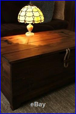 Rustic Wooden Chest Trunk Blanket Vintage Box Coffee Table Storage Box 12 Colour