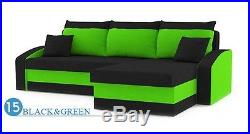 SALE! Corner Sofa Bed HT with two free pillows. SPRUNG MATTRESS AND EXTRA STORAGE