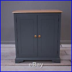 SCHOOL CUPBOARD, Shaker Style Storage Cabinet 2 door in Farrow and Ball Downpipe