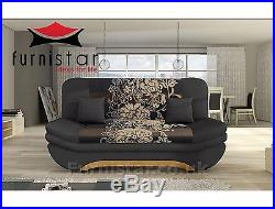 SOFA COUCH BED MODERN LUX SETTEE with storage BONELL SPRINGS POLSKIE WERSALKI