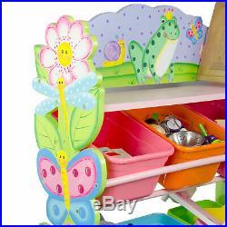 SOLD OUT Fantasy Fields Children Pink Wooden Toy Storage Tidy Organiser TD12245A