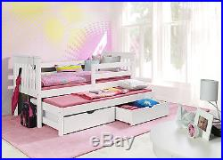 Sara New Solid Wooden Captains Bed/guest Bed With Mattresses And Storage Drawers