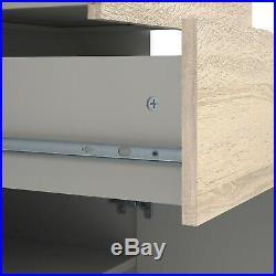 Scandi Modern White & Oak Small TV Unit / 2 Drawer Media Stand Storage