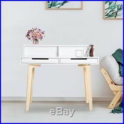 Scandinavian Computer Desk Office Furniture Retro Vintage Storage Writing Table