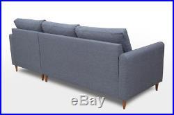 Scandinavian Corner Sofa Bed Couch Settee Areo Pouffe Storage Polskie Narozniki